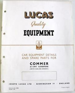 9659c31c6f Image is loading Lucas-COMMER-25-cwt-Superpoise-1949-Electrics-Equipment-