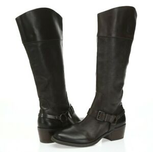 Vince-Camuto-Brunah-Womens-Dark-Brown-Leather-Knee-High-Boots-Size-8-5-M