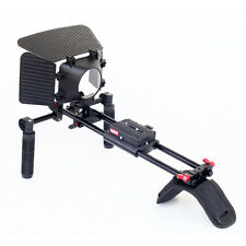 NEW Filmcity Shoulder Rig with Mattebox Quick Release Plate For DSLR Camera