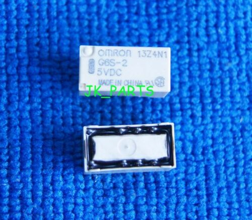 5pcs ORIGINAL G6S-2 5VDC OMRON Relay 8Pins