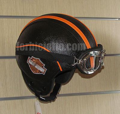 Casco Harley Davidson vintage personalizzato vespa custom in pelle sintetica