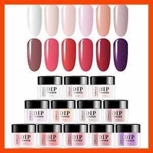 tomicca dip powder nail set dipping 12 trendy colors