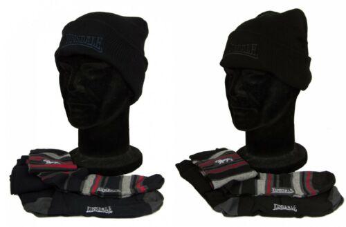 2 paires de chaussettes longues homme article LONSDALE LNSG0 Set cadeau bonnet