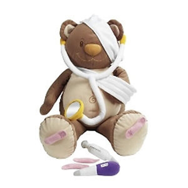 NEW TOLO Hospital Bear - Soft Toy Role Play Aid introducing Doctor Medical 50cm