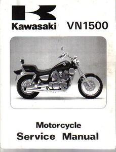 kawasaki vn 1500 original motorcycle service manual workshop manual rh ebay co uk 1997 kawasaki vulcan 1500 owners manual 1996 Kawasaki Vulcan 1500