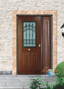 Porta esterno acciaio pvc portone blindato 2 ante vetro for Porte per esterno in pvc