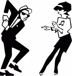 Image Is Loading Tone Ska Beat Girl Amp Boy Dancing Exterior