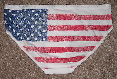 NWT VICTORIA/'S SECRET GRAY I WANT YOU BLING PATRIOTIC 4th JULY HIPHUGGER PANTIES