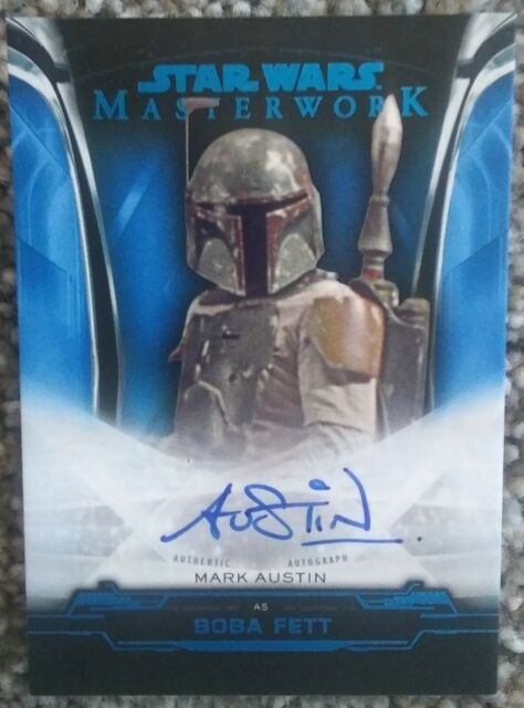 Star Wars Masterwork 2016 Blue Base Card #9 Boba Fett