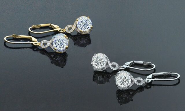 009d9117c Swarovski Elements Infinity Crystal Drop Earrings With Swarovski ...