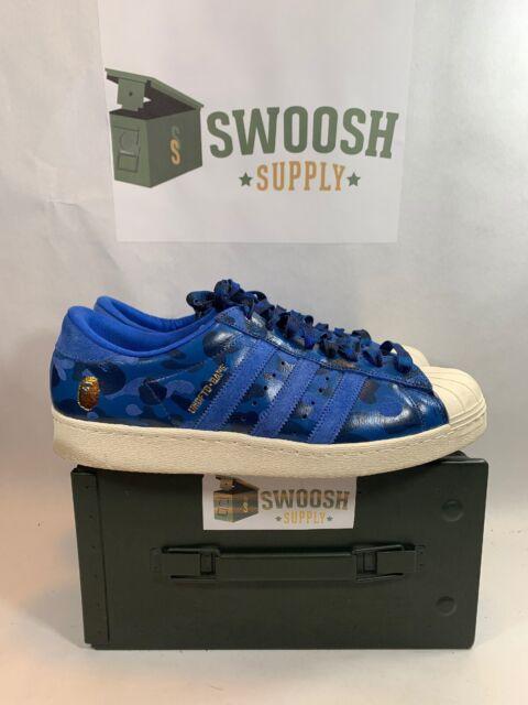 Size 12.5 - adidas Superstar 80s x A Bathing Ape x Undeafeated Blue Camo 2015