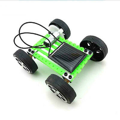 1Pcs Mini Solar Toy DIY Car Children Educational Puzzle IQ Gadget Hobby Robot