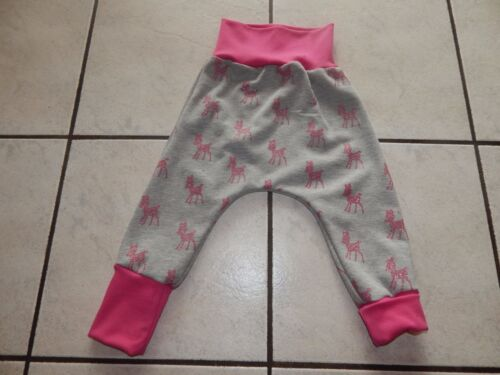 Mitwachshose-Pump pantalones de tela sudadera gris con brillo bambis