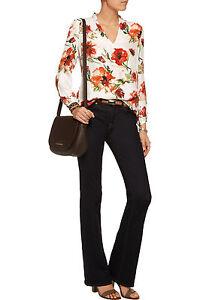 b19fe3f286ed5 Haute Hippie Floral-print Silk-georgette Blouse Top  325.00 Size S ...