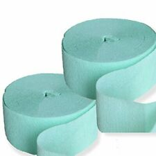 2x Mint Crepe Paper 81FT Party Streamer Wedding Birthday Baby Shower