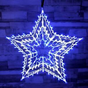 Image Is Loading Large Christmas 100 Led Star Silhouette Animated Outdoor