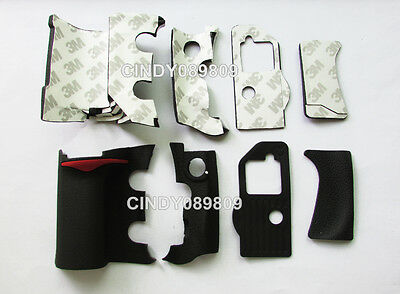 A Unit of 4 Pieces Grip Rubber Unit Part for Nikon D300 DSLR + adhesive tape