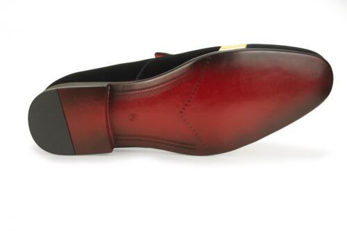 13 12 Mens 10 On Gold Slip Mocassino Velvet Shoes Casual Italian Black New Mocassino xOZ4F
