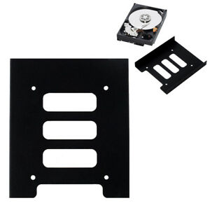 """10Pcs 2.5/"""" to3.5/""""SSD HDD Hard Drive Mounting Bracket Holder Metal Adapter for PC"""
