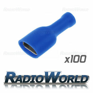 100x-Insulated-Blue-Female-Spade-Connectors-Splice-Terminals-Crimp-Electrical