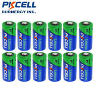 PKCELL 123A CR123A 3 Volt Lithium Battery (Quantity 12) Exp Date 2027 USA