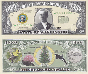 Lot of 25 Bills Flower Tree STATE OF GEORGIA NOVELTY BILL w Governor
