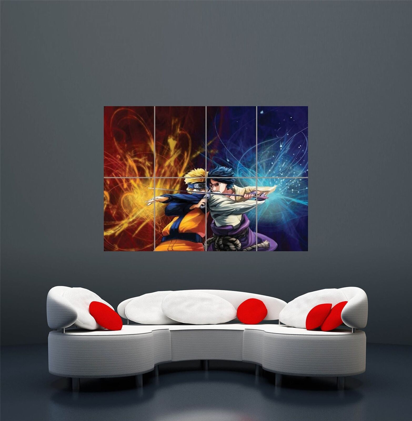 Itachi Uchiha Naruto Giant Wall Mural Art Poster Picture Print 47x33 Inches