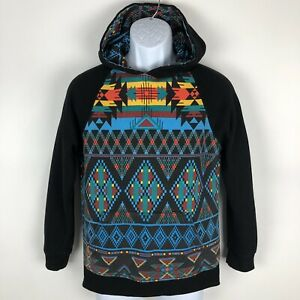Dravus-Hoodie-Youth-Boys-Size-XL-Pullover-Multicolor-Aztec-Hooded-Sweatshirt