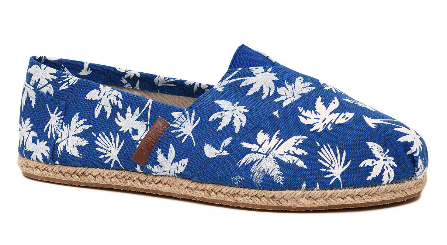 LOAFERS FOOTWEAR ESPADRILLES MAN SLIP ON SUMMER FOOTWEAR LOAFERS SHOES LOW BLUE FLORAL c53c14