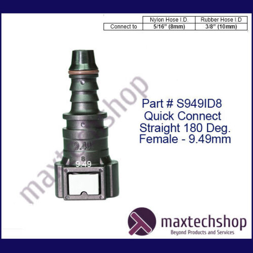 """1//4/"""" 5//16/"""" 3//8/"""" 1//2/"""" 5//8 Fuel Line Quick Release Connector Hose Barb Fitting Gas"""