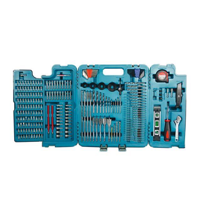Makita Werkzeugkoffer 252-tlg P-67692 Bohren Fräsen Schrauben Bohrer Bt Zubehör