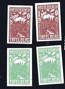 4x-Notgeld-Kassenschein-TAFELBERG-Osterreich-10-30-50-75-Heller-top