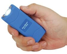 12 Million Volt Rechargeable POLICE BLUE KEYRING Mini Stun Gun + free taser case
