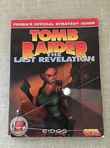 Tomb Raider The Last Revelation Prima Official Strategy Guide Ps1