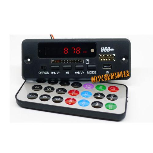 12V Bluetooth Module MP3/WMA/WAV decoder board Digital LED player FM radio car