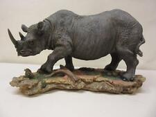 "Giftco International 11"" Rhinoceros Artist Resin Item No. VP14 Figurine New"