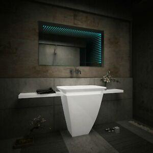 Badspiegel Mit Led 3d Beleuchtung Tieffeneffekt Badezimmerspiegel