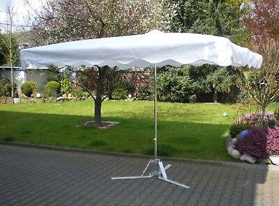 20kg Fuß 3 x 4 m Profimarktschirm Marktschirm Marktstand Umbrella Schirm inkl