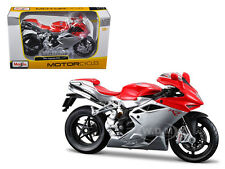 2012 MV AGUSTA F4 BIKE RED/SILVER 1/12 DIECAST MOTORCYCLE MODEL MAISTO 11094