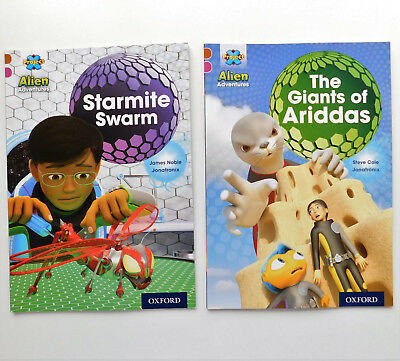 2 childrens books Giants of Ariddas Starmite Swarm Alien Adventure easy readers