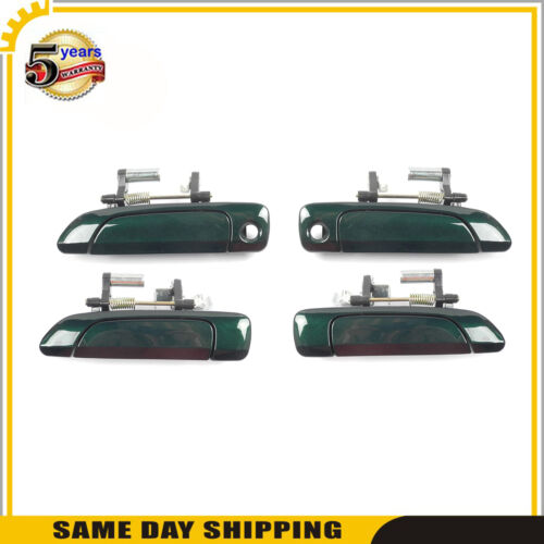 Outside Door Handle 4PCS Set  For Honda Civic 2001-2005 Clover Green Pearl G95P
