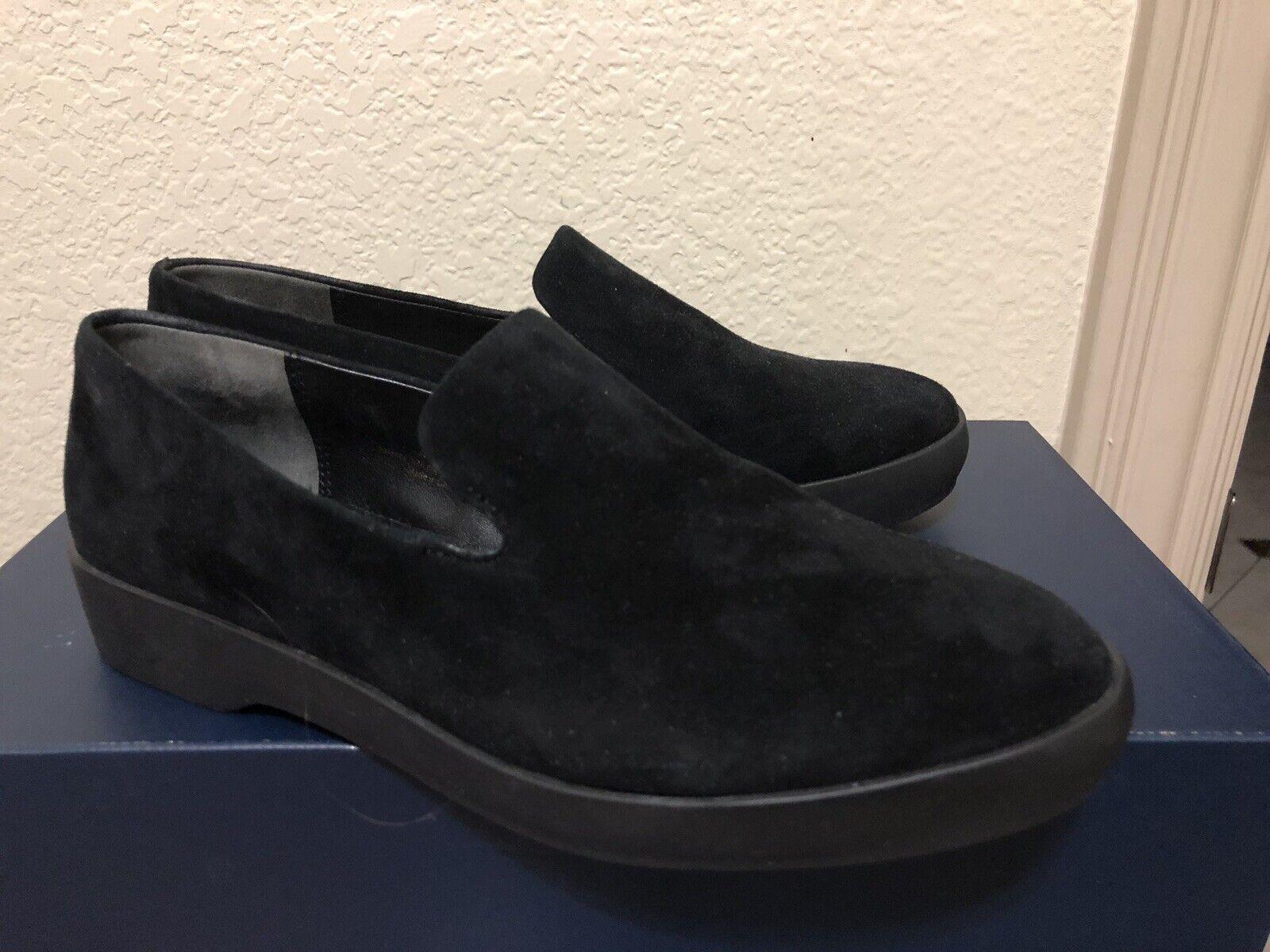 Donna Karan Platform Slip-On nero Suede scarpe Dimensione 6 New