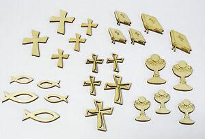 Das Bild Wird Geladen 5 10 Holz Fische Bibel Kelch Kommunion Konfirmation