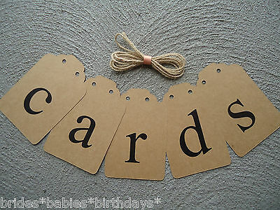 Brown Bunting Flags cards Banner Vintage Wedding Photo Prop Retro Lower Case