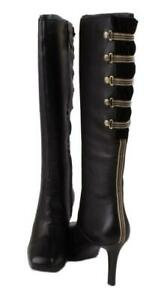 Rockport-Luciana-Corset-Women-039-s-Black-Leather-Knee-High-Dress-Fashion-Boots