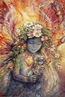 The Fairy's Fairy - Josephine Wall Art Poster - 24x36 Fantasy 9507