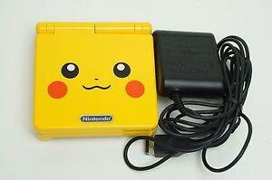 Nintendo-Game-Boy-Advance-GBA-SP-Custom-Pikachu-Yellow-System-AGS-001-MINT-NEW