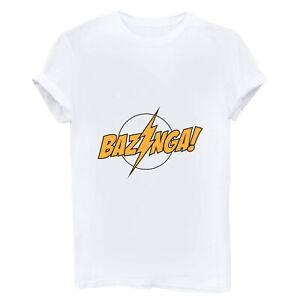 Z-BAZINGA-Funny-Women-T-shirt-Short-Sleeve-Cotton-White-Tops-Tee-Shirt