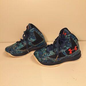 Ver insectos montón Para construir  Under Armour High Top Basketball Shoes - Blue Digitized Camo/Neon Size 11K  EUC | eBay