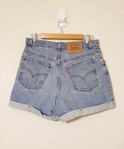 3d028ce2 Vintage Levis 954 Denim Blue Jean Shorts Cuff Junior Sz 13 Regular ...